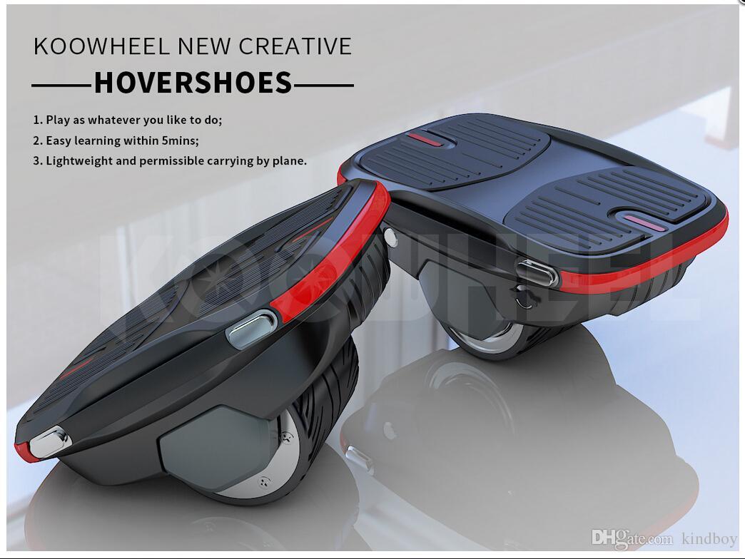 2018 YENI Koowheel Özel Patent Hovershoes Elektrikli Paten Ayakkabı Akıllı Tek Tekerlek Kendini dengeleme Hover Ayakkabı İçme kaykay