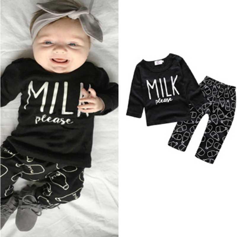 d338e61d6 2019 Baby Girl Clothing Set Long Sleeved T Shirt+Print Dog Leggings ...