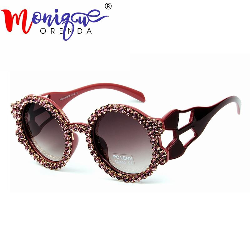 d316c9ed7b6 Round Sunglasses Women New Brand Designer Hollow Frame Rhinestone Sun  Glasses Female 2019 Black Brown Unisex Oculos UV400 Sunglasses Eyeglasses  From Hoganr