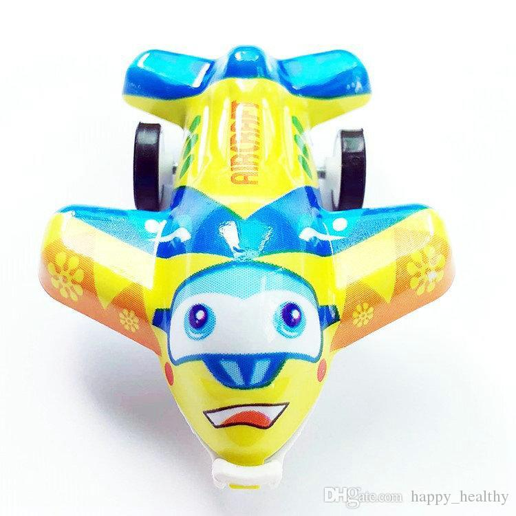 DHL 60pc Random Color Plastic plane mini Cute Airplane Mold Toys Cartoon  Inertial Plane Toy Children Baby Game Toys Birthday Gifts