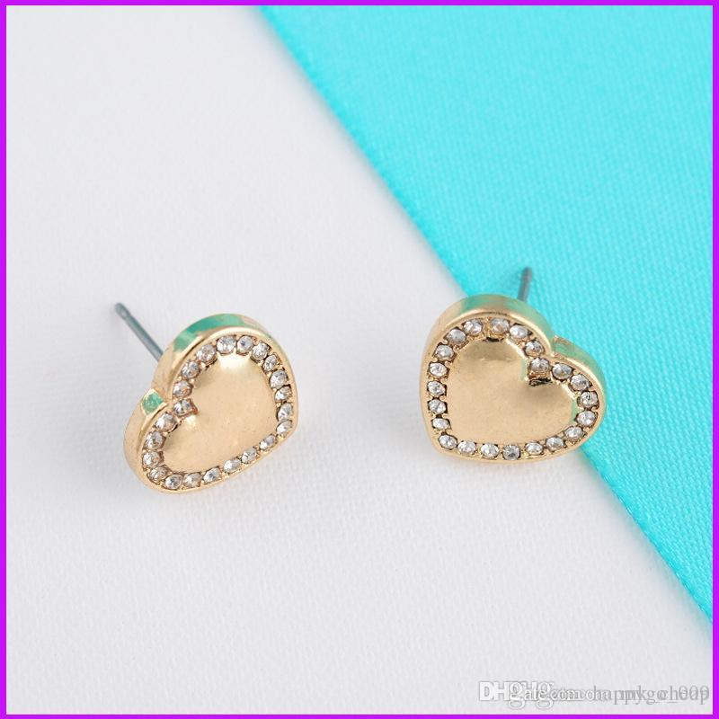 women new crystal for b letter stud qusfy earrings fashion jewelry colors arrival item