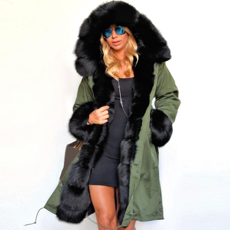 9919a6f4daa02 Acheter Mode Dames Femmes Casual Fausse Fourrure Manteau Automne Hiver  Chaud Capot Manteau Longue Tranchée Chic Veste Outwear Top De $48.16 Du  Silan ...