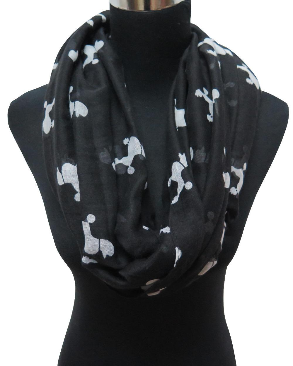 Poodle Dog Animal Print Women s Infinity Scarf cf22cb0807bb