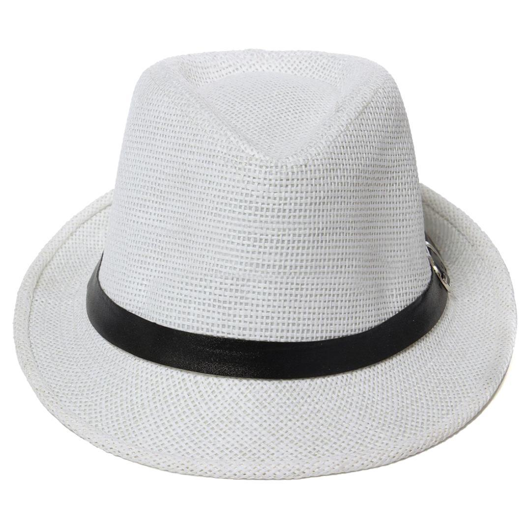 e1f313d1b6a21 Women Men Fedora Trilby Cap Grass Style Packable Travel Sun Summer Hat,  White Boonie Hat Fedoras From Nectarine99, $24.79| DHgate.Com