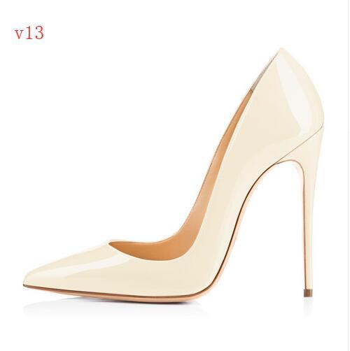 {Original Box}Classic Women Brand Red Bottom High Heels Patent Leather Pointy Toe Dress Shoes Luxury Shallow Mouth Red Sole Wedding Shoes