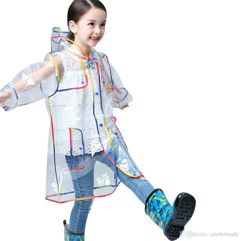 f8e803770 2019 EVA Waterproof Transparent Raincoat Fashionable Women Rainwear ...