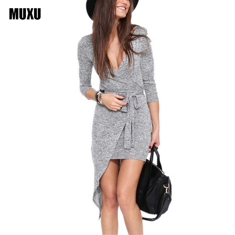 ad9b3980785c Acquista Donne Sexy Vestono Plus Size Abiti Donna Moda Femminile ...