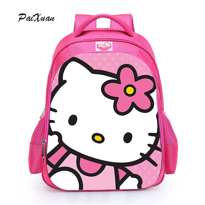 25bca02bd939 Children Schoolbag Hello Kitty Girl Backpack Lovely Backpack For Girl  Orthopedic Kid Cartoon Schoolbag Infantil Rucksack Backpack Boys Backpacks  From ...