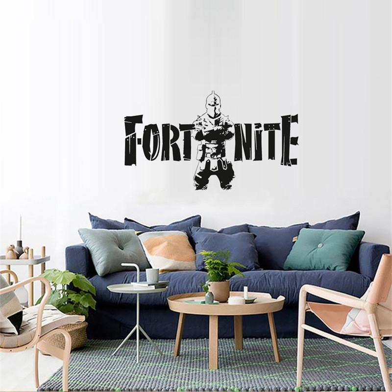 Green Wallpaper Fortnite Game Poster Wall Carved Wall Decal Sticker