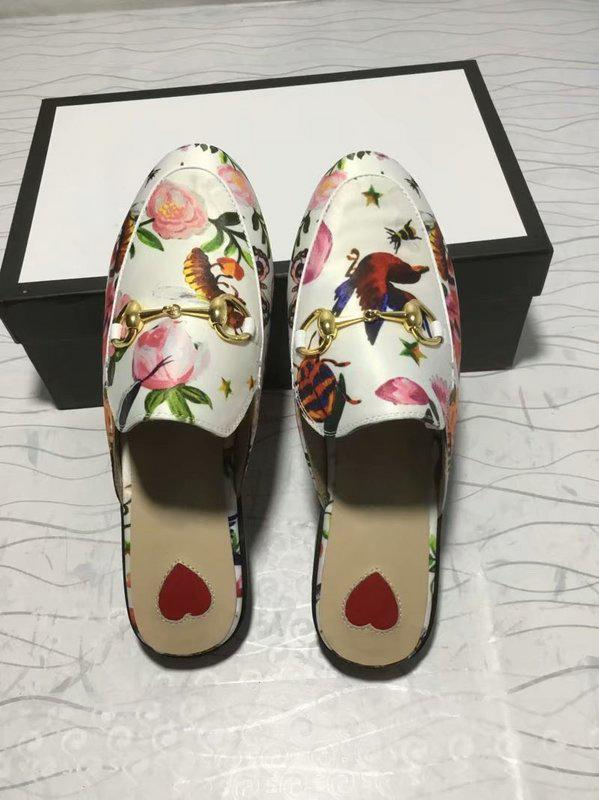 f31248f55e6 Princetown Embroidered Hawaiian Print Satin Women S Slippers Mules Loafer  Shoes Print Leather SlipperLuxury Brand Sandals 0G18 Pumps Shoes White  Boots From ...