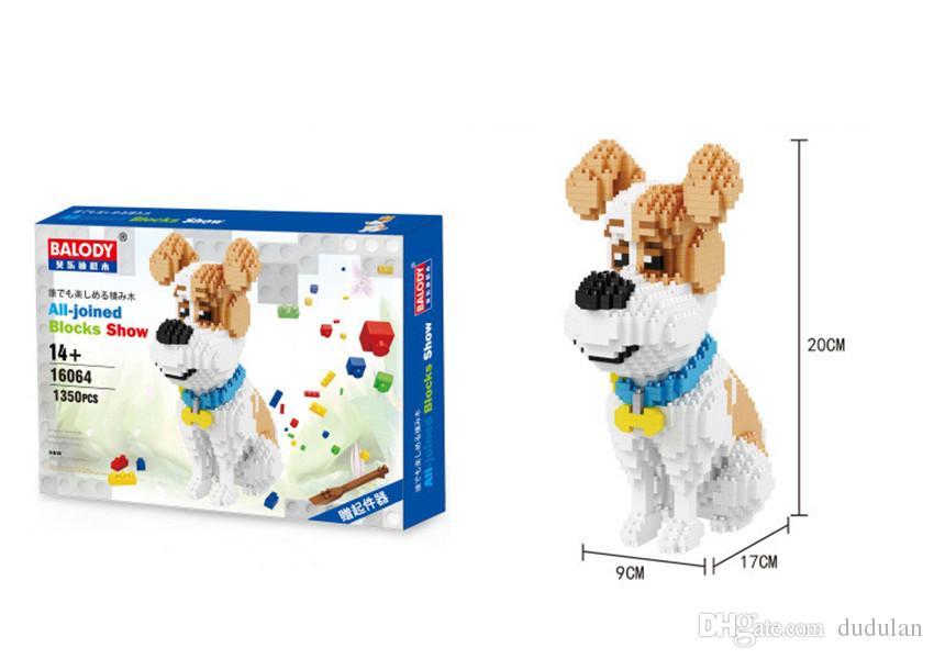 Balody Husky Pets pure white Bentley dog Friend Dog Figure Diamond Building Block Toy children educational assembly bricks