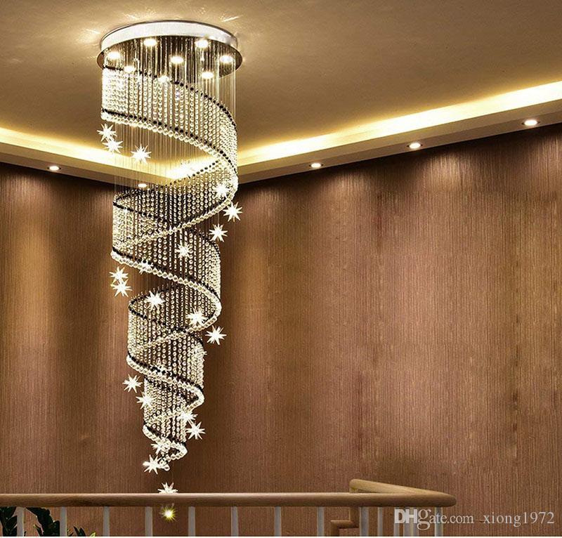 Beau Wohnzimmer Deckenleuchte LED 3 Helligkeit K9 Kristall Und Chrom Spiegel  Edelstahl Kronleuchter Deckenlampe Kronleuchter LED Birne Und .