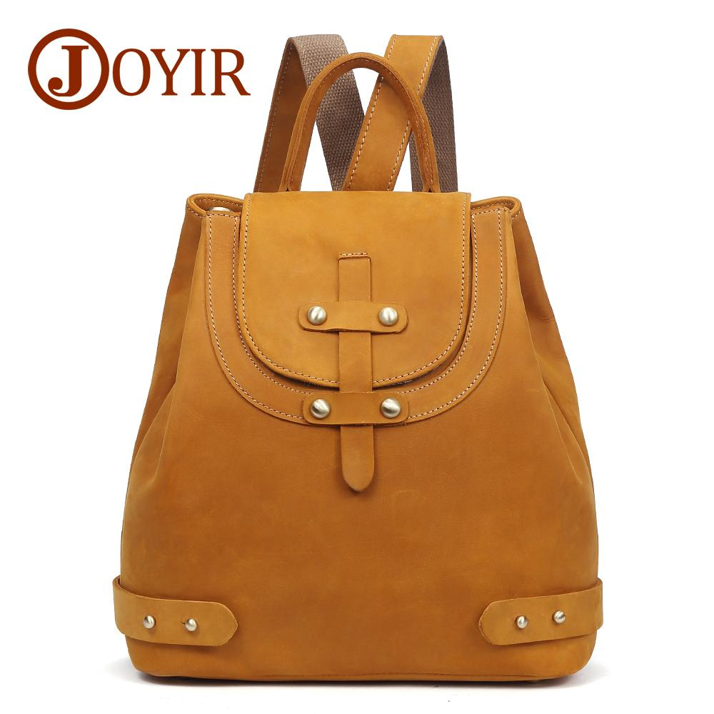 b39affea23 JOYIR 2018 Genuine Leather Women Backpack Vinatge Solid Womens Backpack Bag  School Bag Student Back Pack For Girls 3010 Messenger Bags Leather Backpack  From ...