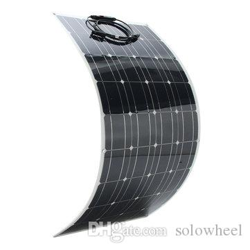SP-39 12V 120W 1180*540mm Semi Flexible Solar Panel With 1.5m CableOEM full certified china supplier high efficiency flexible solar