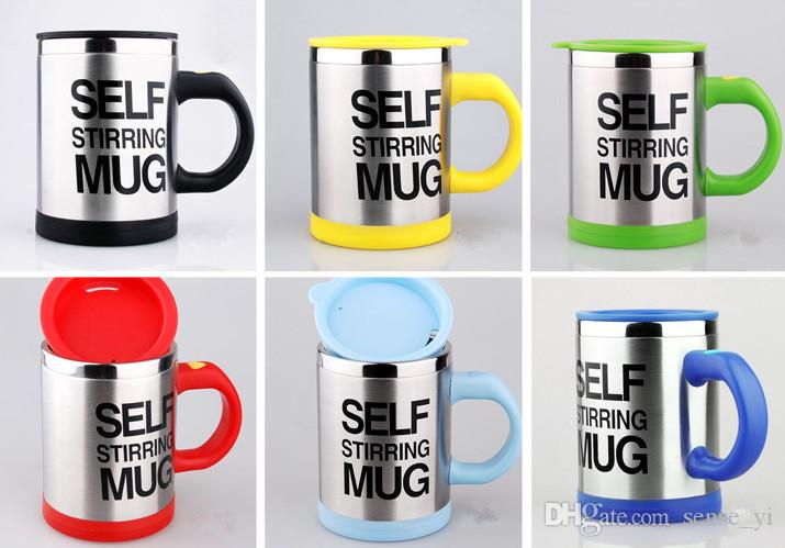 400Ml Mug Automatic Electric Lazy Self Stirring Mug Automatic Coffee Milk Mixing Mug Tea Smart Stainless Steel Mix Cup 6 Colors