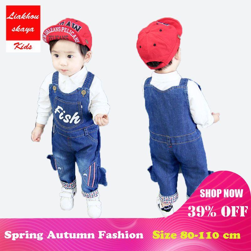 af0d561d45 2019 Liakhouskaya Baby Pants Denim Infant Overalls Kids 2018 Autumn Little  Newborn Bib Pants Kids Boys Girls Trousers For Boy Clothes From Namenew