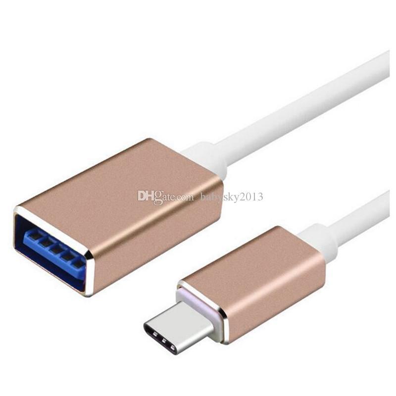 alliage métallique universel USB Type C à USB Type A Adapte OTG câble 15cm de type C 3,1 OTG Câble pour téléphone Samsung android