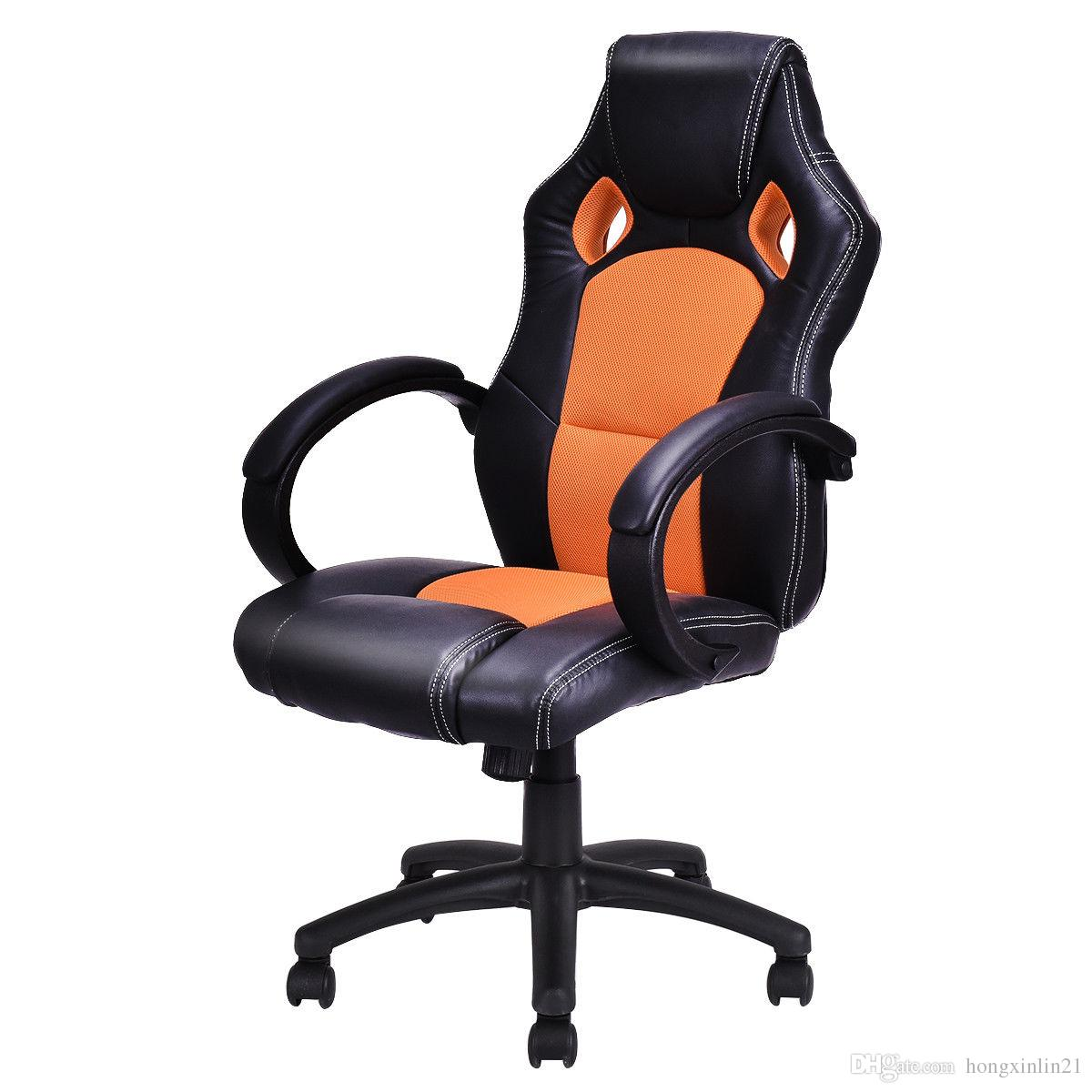 Online Cheap High Back Race Car Style Bucket Seat Office Desk Chair Gaming  Chair Orange New By Hongxinlin21 | Dhgate.Com