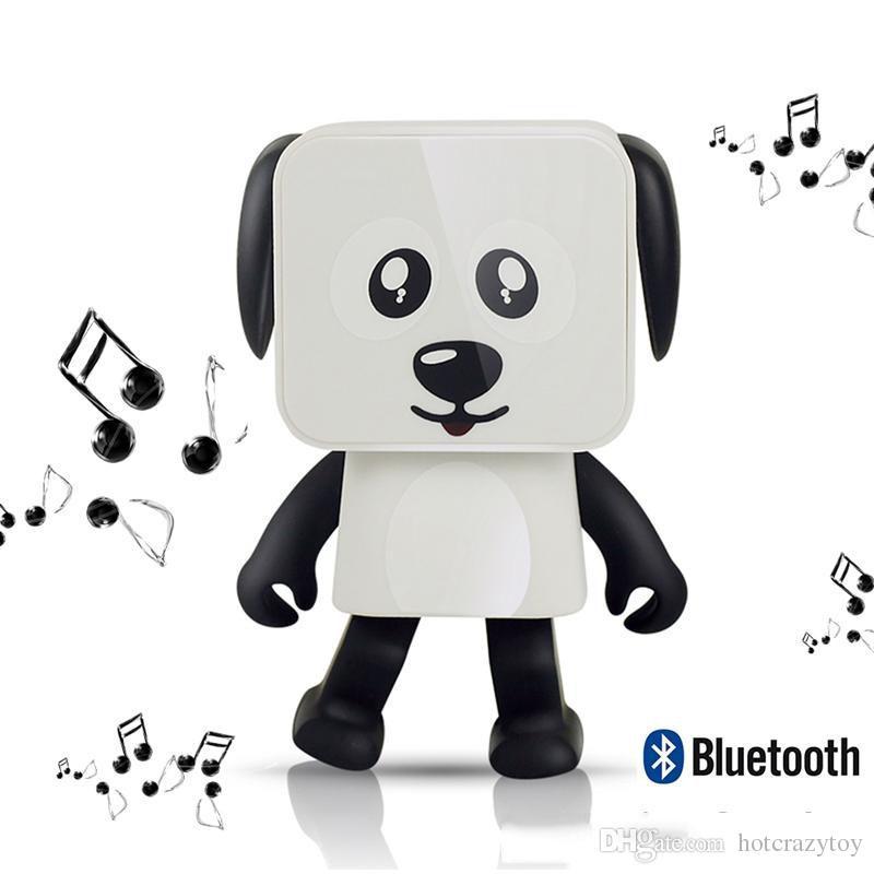 Vente chaude Bluetooth Danse Haut-Parleur Jouets Mini Cubic Puppy beau chien Robots Mignon Figurines Cadeaux De Noël pour Enfants Présente vente chaude