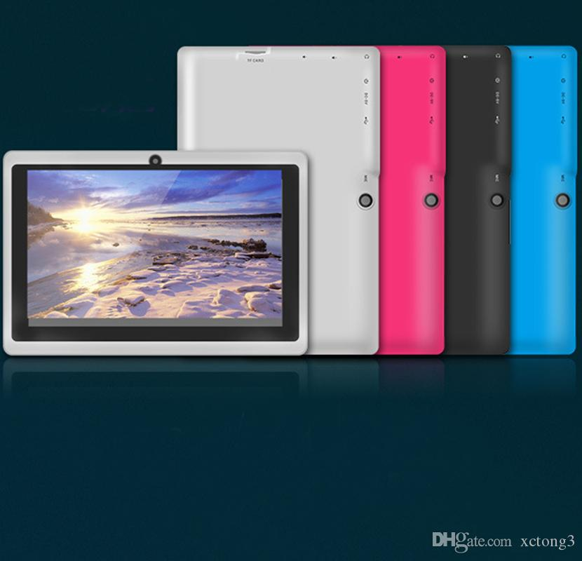 Q8 7inch Tablet PC A33 Quad Core Allwinner Strong Capacitive Android-4.4 512MB RAM 4GB ROM WIFI Dual Camera Flashlight Q88 ECPB-6 Retail