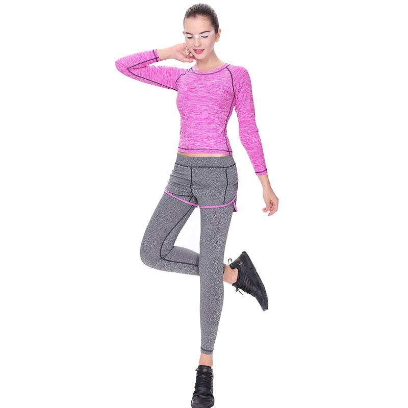 fafaae2fe251e Sport Sets Women Gym Suit Fitness Woman Sport Running Set Winter Running  Set Sportswear Clothing 3pcs/set Full Sleeve Vest Pant