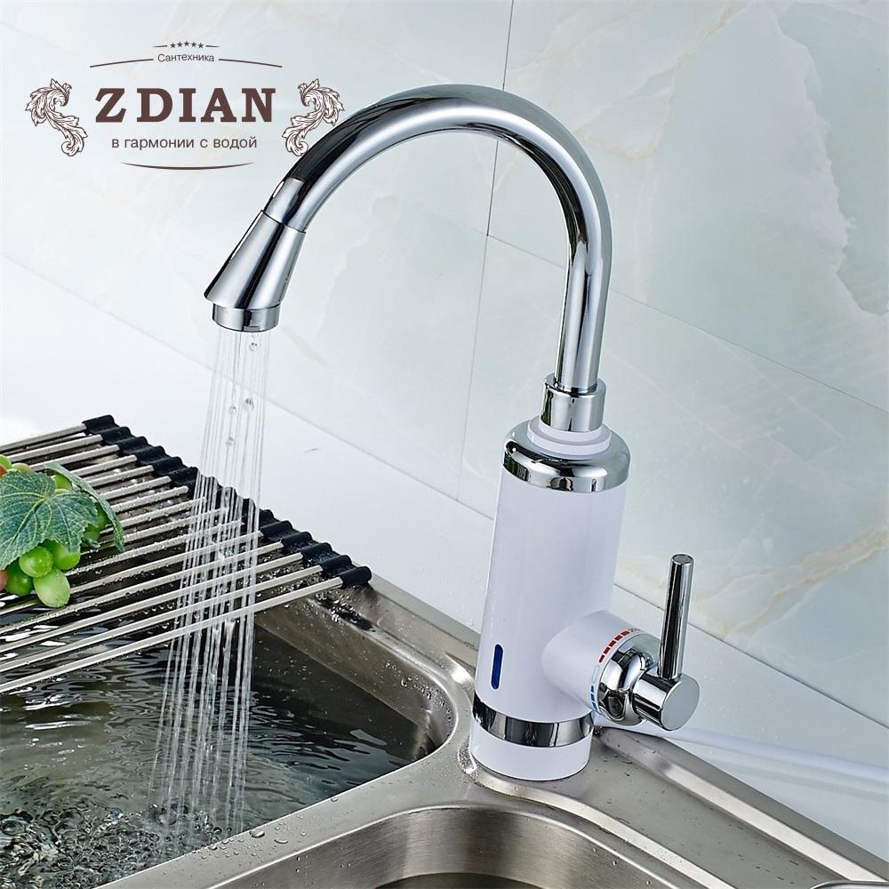 2019 Electric Kitchen Water Heater Tap Instant Hot Water Faucet