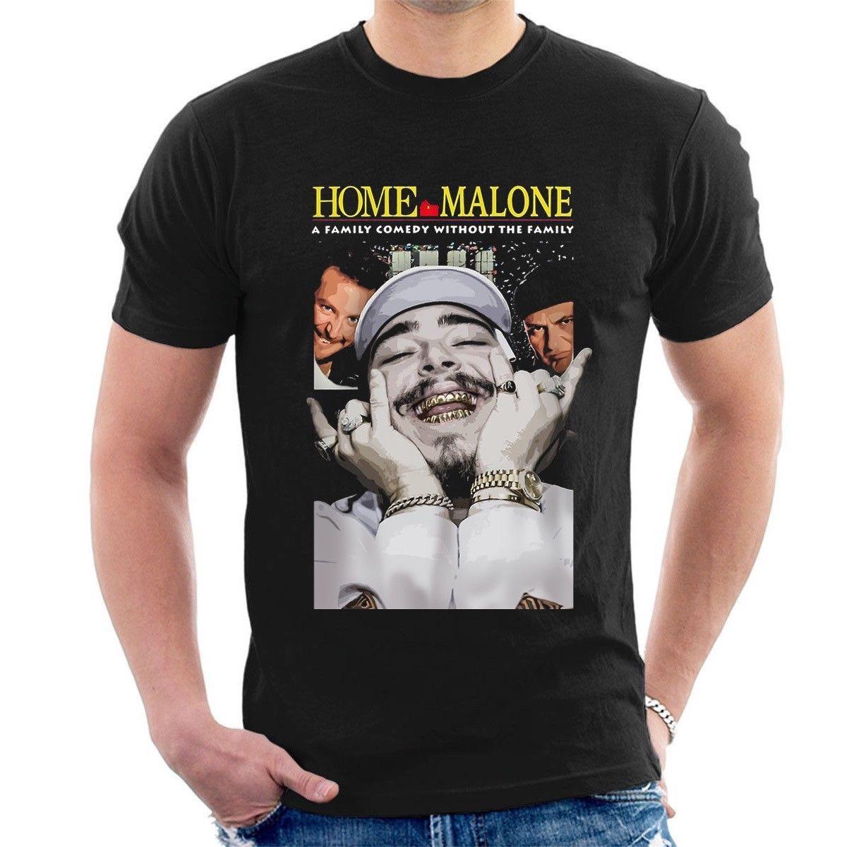Home Malone T Shirt Post Malone Spoof Home Alone Funny Parody Rockstar  Teecool Casual Pride T Shirt Men Unisex Fashion Tshirt Cool Tee Shirts  Designs Web T ... e0aa69d9b