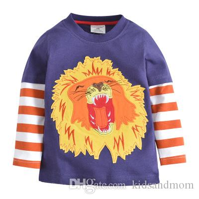7b6e81a962757c America Style Boys Kids Children T Shirt Long Sleeve Animal Zoo Printed  Pure Cotton Tops Tees Wholesale 18M-6T Online with  43.17 Piece on  Kidsandmom s ...