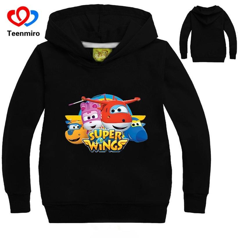 Acheter Printemps Enfants Hoodies Bébé Super Ailé Sweat Garçons Filles  Dessin Animé À Manches Longues Cartoon TShirts Enfants Toddler Tenues  Costumes Pour ... 8b6b6c7425a