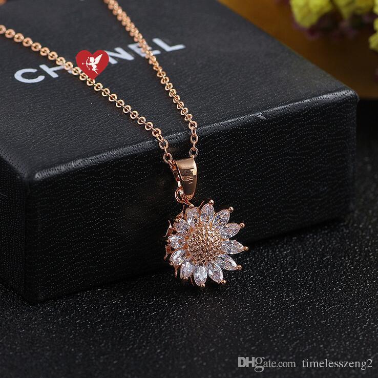 Style coréen pendentif guirlande chanceuse avec chaîne en cristal claviculaire anniversaire Saint Valentin beaux cadeaux bateau gratuit