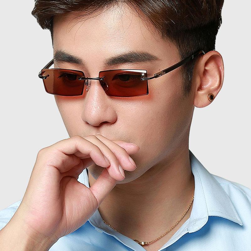 285fe6a211 Vazrobe Photochromic Glasses Men Rimless Eyeglasses Frame For Man Chameleon  Eyeglass Goggles For Driving UV400 Diopter Spectacle Sunglasses For Men ...