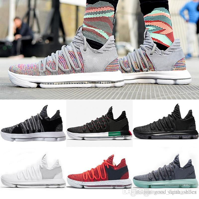 detailed look ad54a 531e8 Großhandel Nike Shoes Vans Vapormax Off White Nike Air Max Adidas Shoes  Supreme Neu Zoom KD 10 Jubiläum PE BHM Oreo 3 Fach Schwarz Herren  Basketball Schuhe ...