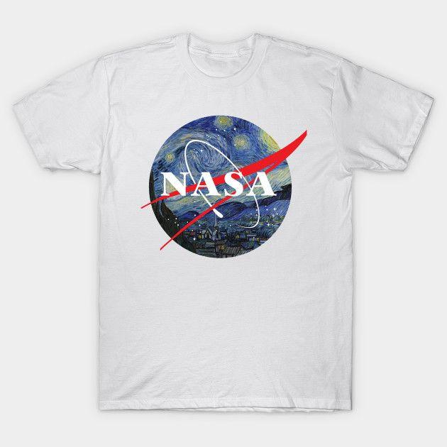 d87c357794d NASA Starry Night T Shirt Designer Shirts White Shirts From Chenximei001