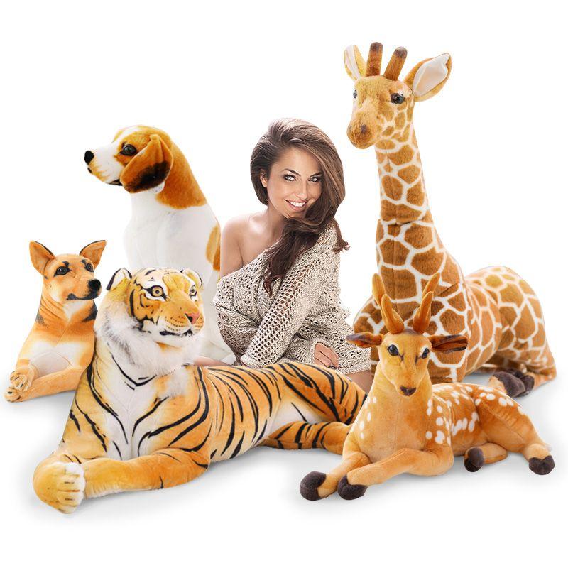 2019 Simulation Animals Plush Toy Large Stuffed Animal Tiger Sika