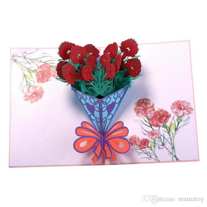 5 design flower greeting pop cards 3d handmade greeting cards stationery card vintage retro pierced post greeting cards printable gift cards online buy e - Buy Greeting Cards Online