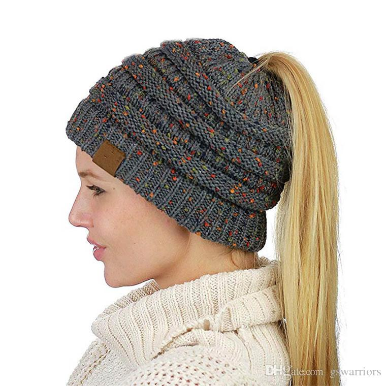 Gift Hat. Individualized Messy Bun Beanie 2a2eaf4a0f7