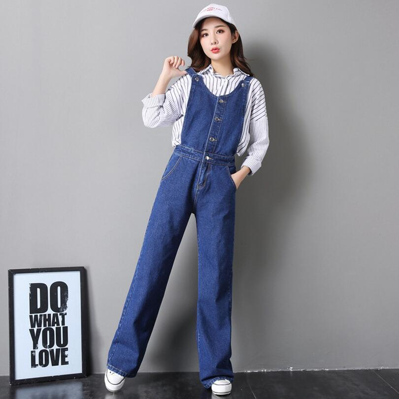 df6204bd2d1d 2019 2018 Spring Denim Jumpsuits Women Jeans Overalls Wide Leg Vintage  Casual Jeans Pants Trousers Female Jumpsuit Romper W887 From Roberr