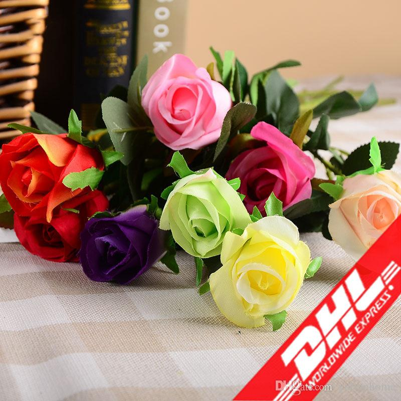 8218f7c1d5c01 Silk Flower Wedding Decoration Fake Rose Artificial Flowers Romantic/Party  Decorative Flowers decorations for bedroom free shipping DHL