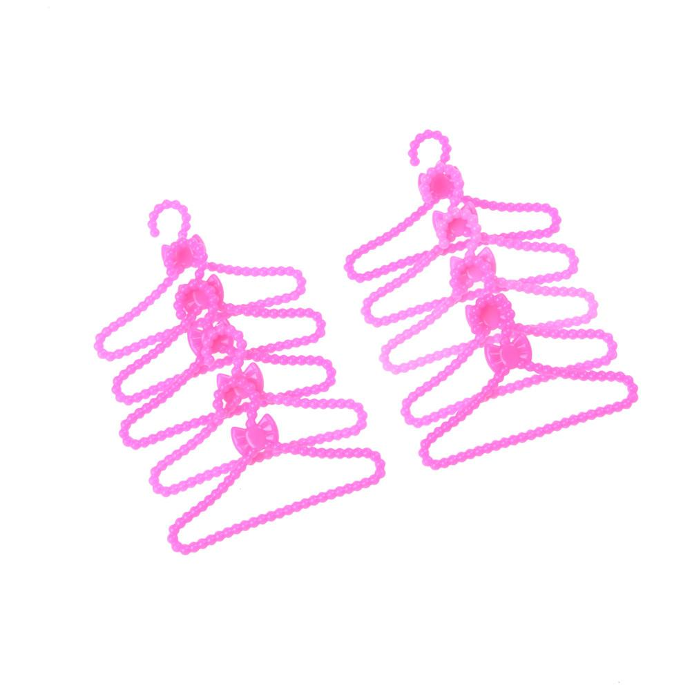 Pink Color Hangers Accessories For Doll Clothes Dress Outfit Skirt ...