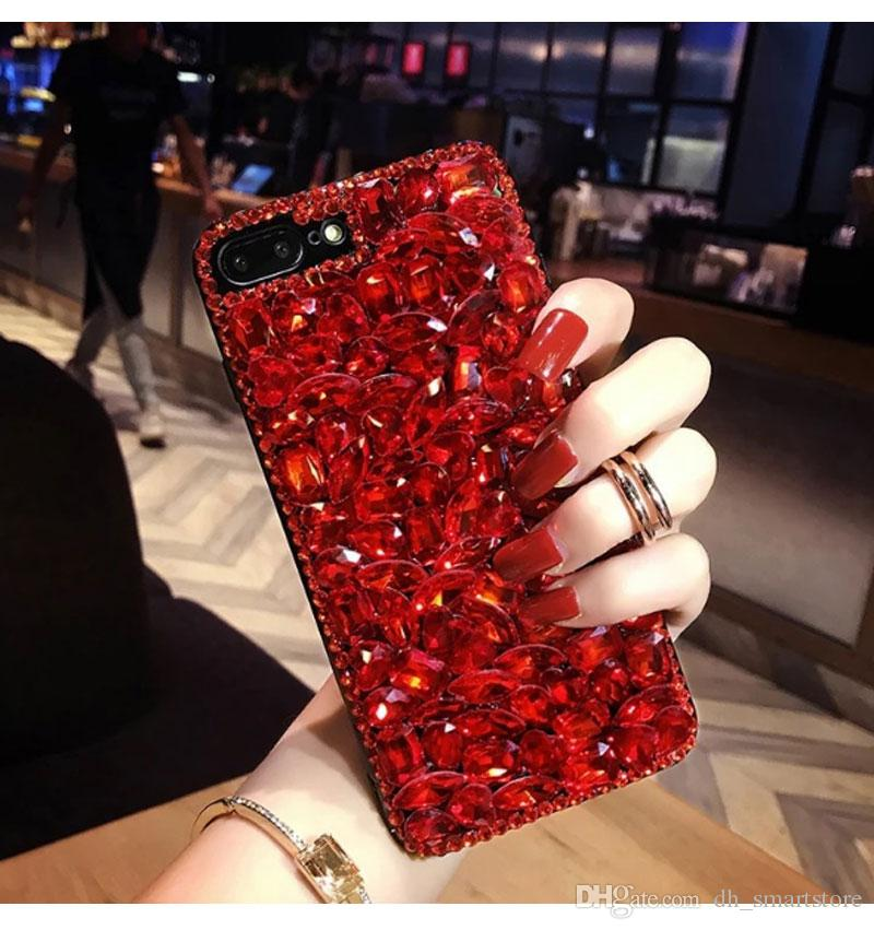 Luxury Sparkle Glitter Phone Case for iPhone xs max xr X 8 7 6 6S Plus Korean style Hard Jewel Case Cover for iPhone 6 iPhone 7 Coque Capa