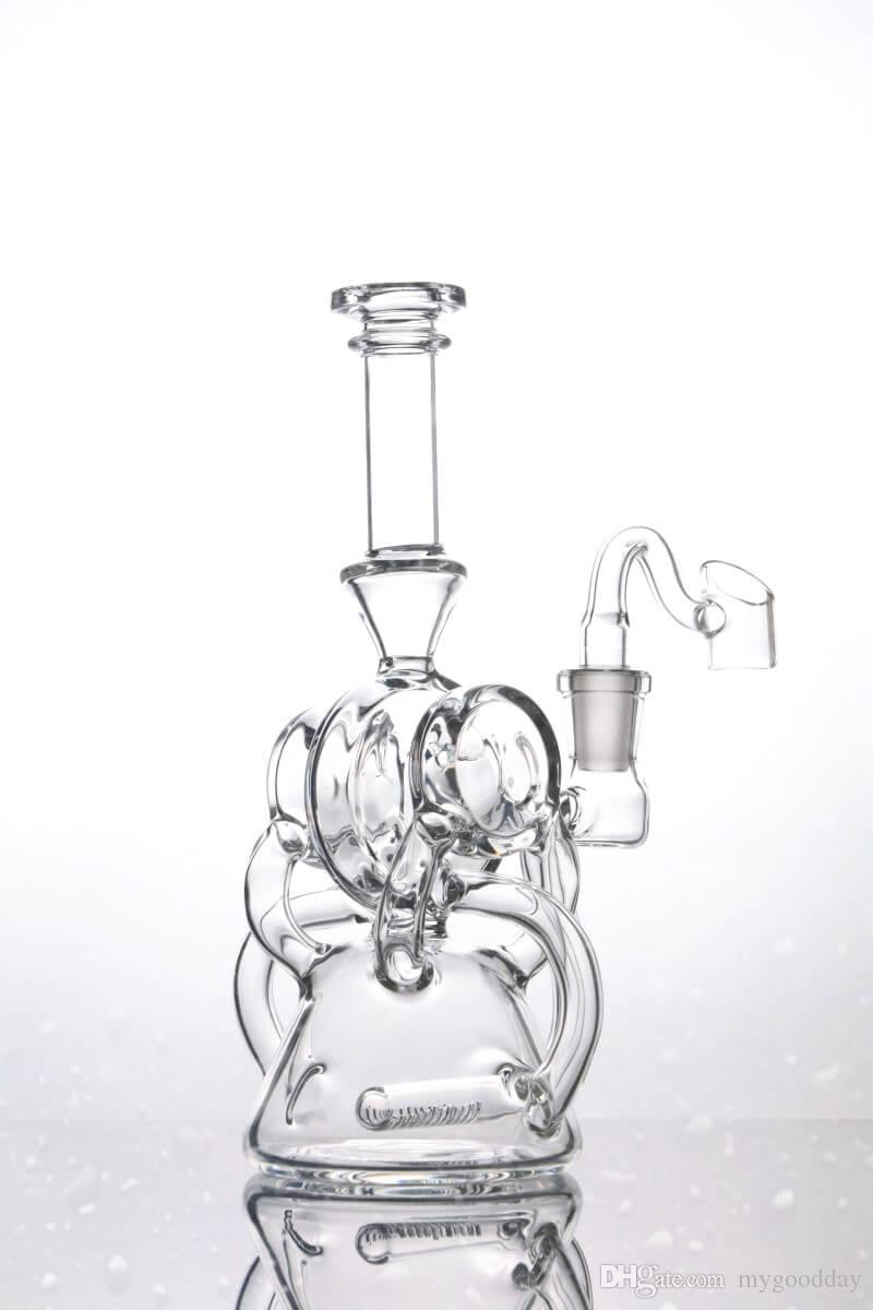 New Unique Recycler Dab Oil Rigs Small Portable Clear Glass