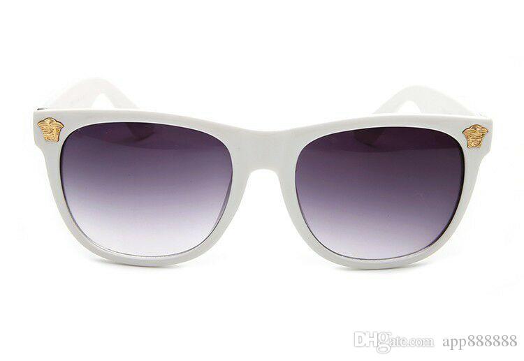 2363f3cfcd91 Style Italy Brand Medusa Sunglasses Half Frame Women Men Brand Designer Uv  Protection Sun Glasses Clear Lens And Coating Lens Sunwear Retro Sunglasses  ...