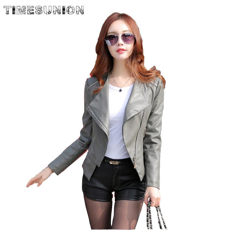 3046166087c 2019 Faux Soft Leather Jacket Women 2018 New Fashion Spring Women Pu Black  Blazer Zippers Coat Motorcycle Outerwear Plus Size 5XL 4XL From Guchen3
