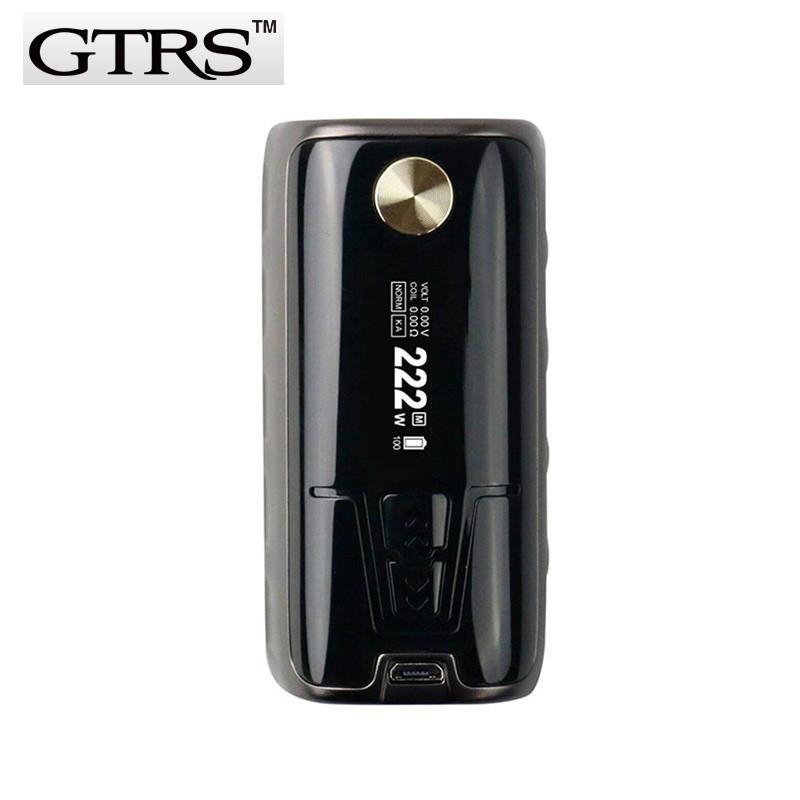 Original GTRS P222 222W High-end TC Box MOD Powered By Dual 18650 Batteries  SS316 Ni200 Ti TCR Mode Vape E-Cigarette Mods