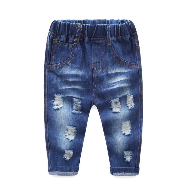 8144 Soft Denim Baby Boy Jeans Baby Girls Jeans Dżinsy Dżinsy Spodnie Dzieci Spodnie Navy Blue Bardzo ładne Unisex Dzieci Obracaj UPS