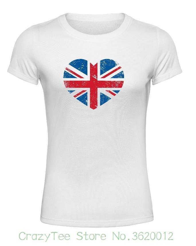 e035cb43f Women's Tee Ladies Women's White T Shirt Union Jack Design Gift For Women  Cotton Harajuku Unicorn Brand Female T-shirt
