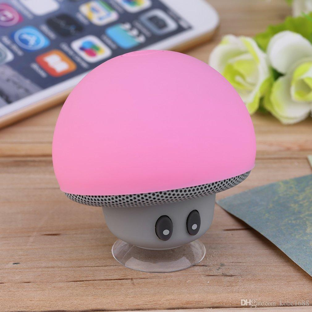 24c60b0b88 Compre Mini Cogumelo Mp3 Speaker Subwoofer Sem Fio Bluetooth Speaker Com  Silicone Telefone Otário Tablet Computador Stand Zc740401 De Kobe1688