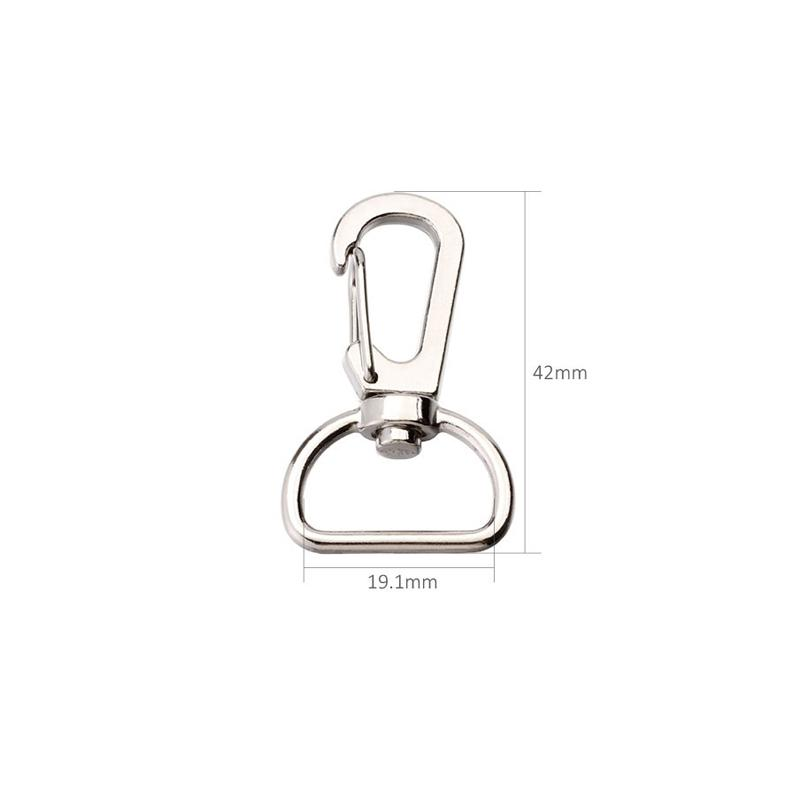 280pcs 42mm Snap Hook Zinc Alloy Buckle for 19mm Strapping Key Ring For Bag Keychain DIY Accessories Bm08ym05-19.1