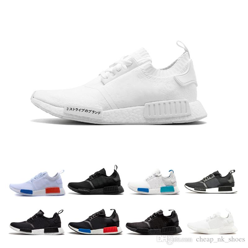 Cheap Sale NMD R1 Primeknit Pk Japan Triple Black White Red Tri Color Men  Women Running Shoes Runner Sports Shoe Trainer Sneaker Size 36 45 Shoes For  Men ... 2cf73e37c