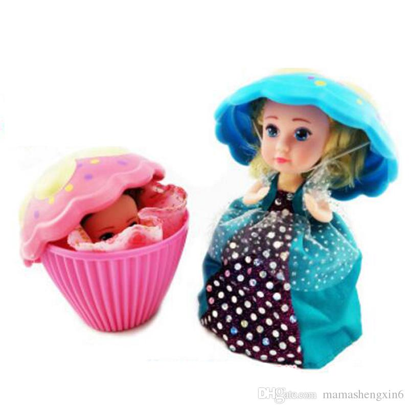 New Cupcake Surprise Scented Princess Doll Reversible Cake Transform to Mini Princess Doll Multi-color Cake Princess Creative Doll Toys